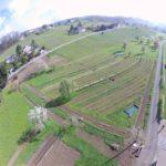 Luftaufnahme Agroforstgarten April 2019